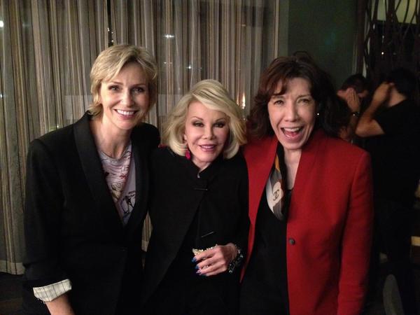 Jane Lynch, Joan Rivers, Lily Tomlin