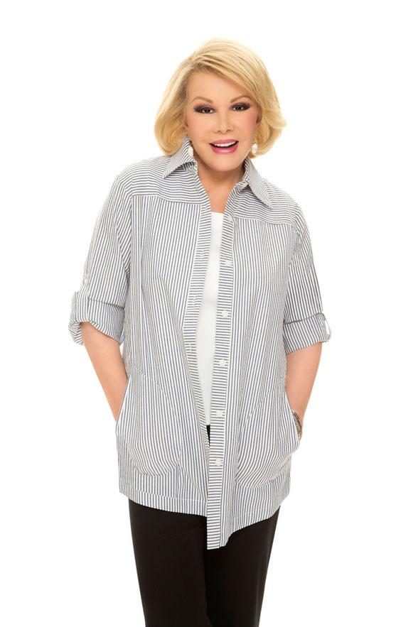 Seersucker Boyfriend Shirt with Long Sleeves